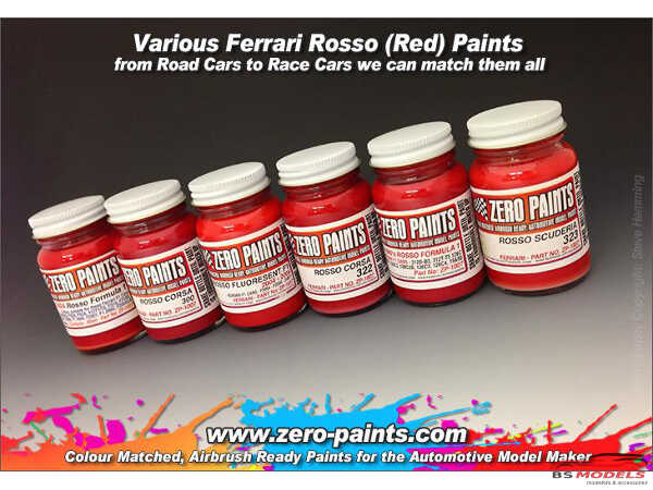 ZP1007-12 Ferrari Rosso Formula 1 2007-2008   2x 30ml Paint Material
