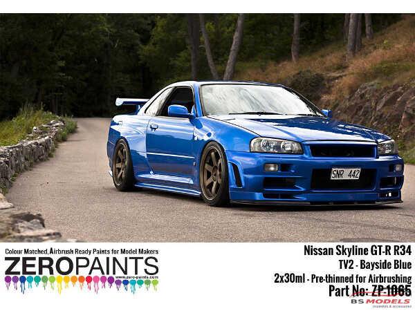 ZP1065-TV2 Nissan Bayside blue TV2  60ml Paint Material