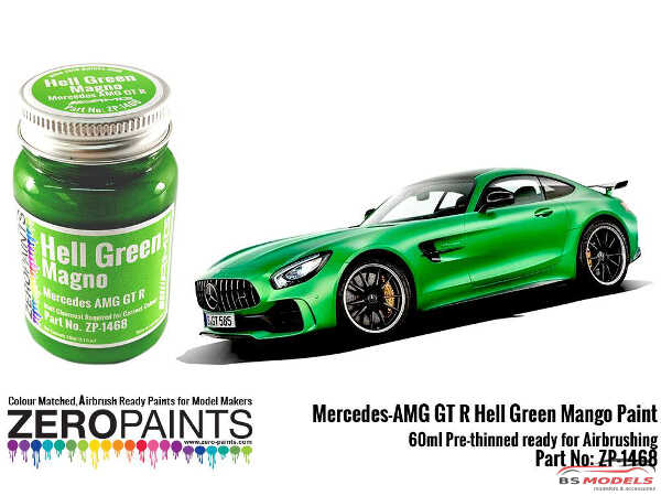 ZP1468 Mercedes AMG GT R Hell Green paint 60ml Paint Material