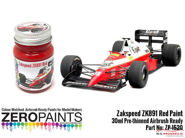 ZP1520 Zakspeed ZK891 Red paint 30ml Paint Material