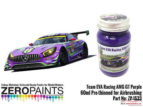 ZP1533 Team EVA  Racing AMG GT  Purple paint  60ml Paint Material