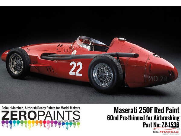 ZP1536 Maserati 250F Red paint 60 ml Paint Material