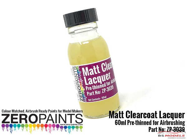 ZP3039 Matt Clearcoat Lacquer 60ml (Pre-Thinned) Paint Material
