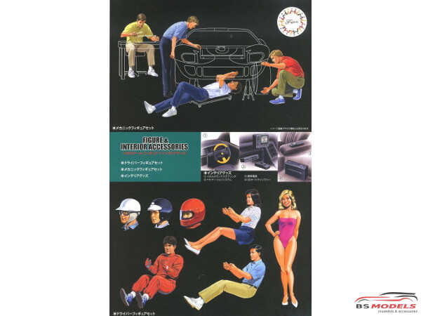 FUJ11636 Figures And Interior Accessories Plastic Kit