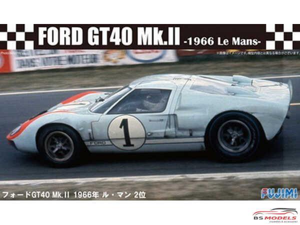 FUJ12604 Ford GT40 Mk II Le Mans 1966 Plastic Kit