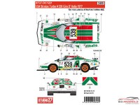 STU27DC1221 Lancia Stratos Turbo #539  Giro d'Italia 1977 Waterslide decal Decal