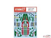 STU27DC1221 Lancia Stratos Turbo #539  Giro d'Italia 1977 Waterslide decal Decal