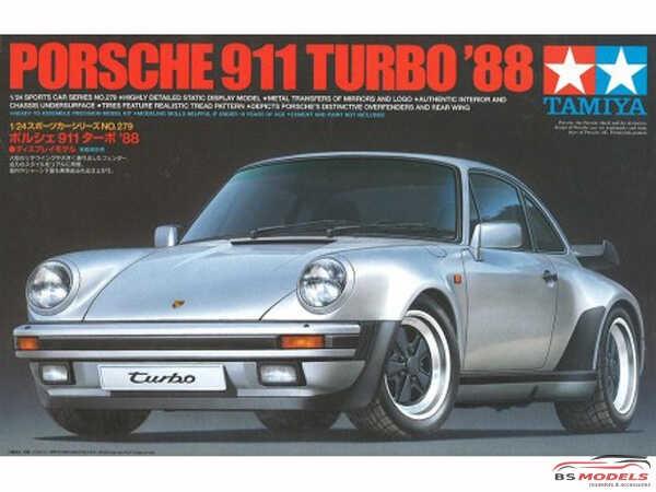 TAM24279 Porsche 911 Turbo 1988 Plastic Kit