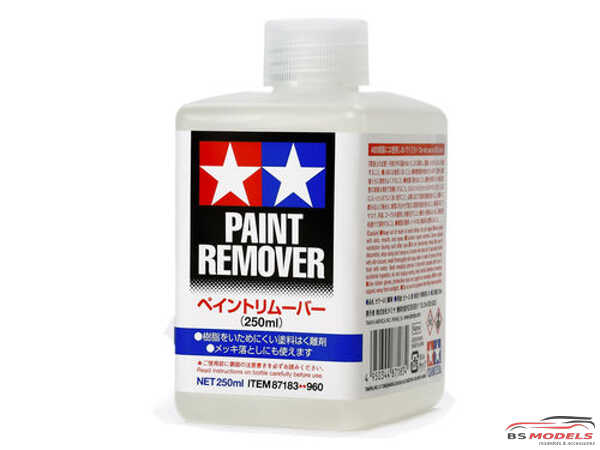 TAM87183 Tamiya Paint Remover 250 ml Paint Material