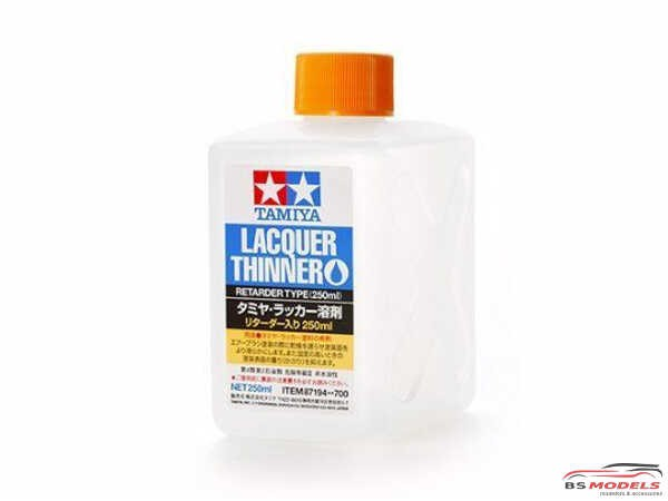 TAM87194 Tamiya Lacquer Thinner / Retarder (for LP paint) Paint Material