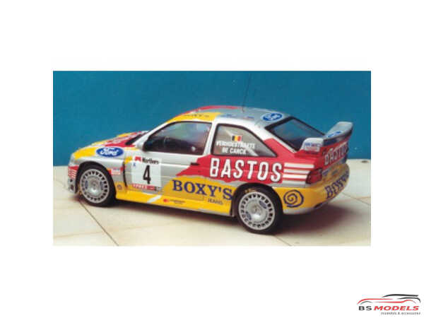 TK24009 Ford Escort WRC Boxy's-Bastos Ypres-Westhoek Rally 1998 Waterslide decal Decal