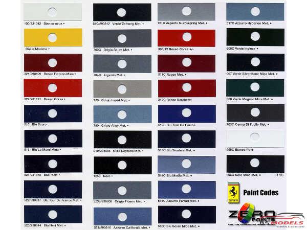 ZP1007-13 Ferrari Bianco Avus 100 white Paint Material