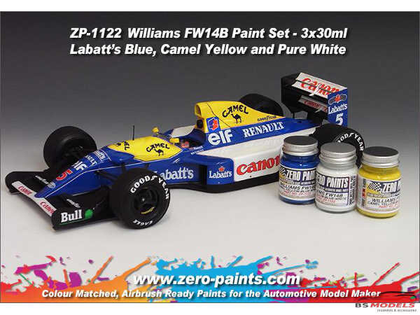 ZP1122 Williams FW14B paint set 3x30ml Paint Material