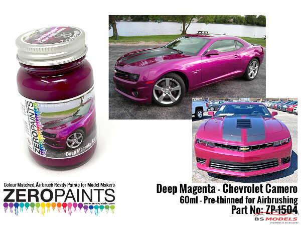 ZP1504 Chevrolet Camaro Deep Magenta Metallic paint 60ml Paint Material