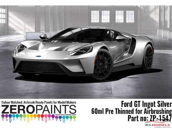 ZP1547 Ford GT Ingot Silver paint 60ml Paint Material