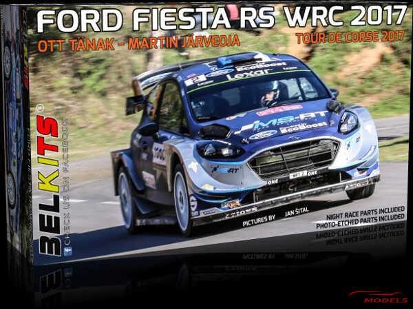 BEL013 Ford Fiesta RS WRC 2017  Ott Tanak  Tour de corse 2017 Plastic Kit