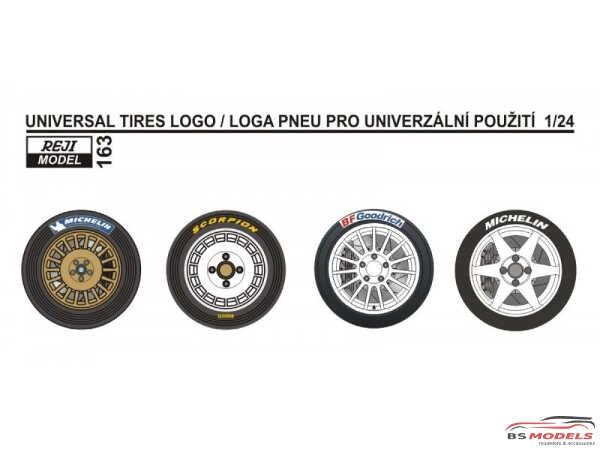 REJI163 Universal Tires logo 1/24 Waterslide decal Decal