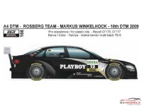 "REJI166 Audi A4 DTM 2009  ""PLAYBOY""decal Waterslide decal Decal"