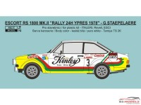 "REJI274 Ford Escort RS1800 ""Kinley Tonic""  2nd Ypres Rally 1978 Waterslide decal Decal"