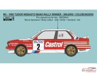 REJI286 BMW M3 Tudor Webasto Manx Rally winner 1988  Snijers/Colebunders Waterslide decal Decal