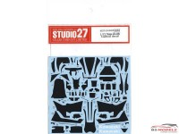 STU27CD12008 Kawasaki Ninja ZX-RR  carbon decal Waterslide decal Decal
