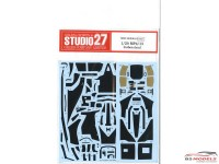 STU27CD20014 Carbon decal for Mclaren MP4/13  (TAM) Waterslide decal Decal