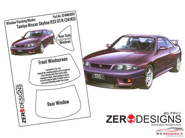 ZDWM0003 Nissan Skyline R33 GT-R Window painting masks (TAM) Multimedia Accessoires