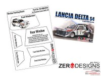 ZDWM0014 Lancia Delta S4 Rally Window painting masks (Beemax) Multimedia Accessoires