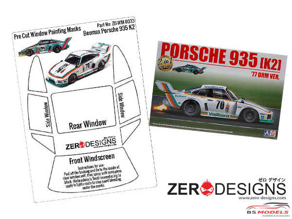 ZDWM0033 Porsche Kremer 935 K2  Window painting masks (Beemax) Multimedia Accessoires