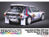 ZP1544 Lancia Delta S4 Rally Monte Carlo 1986 white(210)  60ml Paint Material
