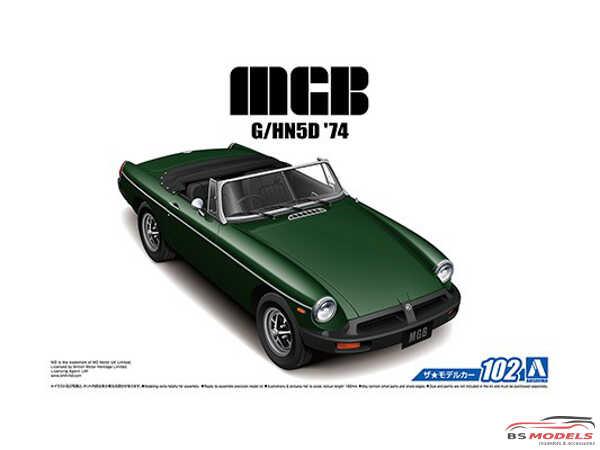 AOS056868 BLMC  G/HN5D   MG  B  MK3  '74 Plastic Kit