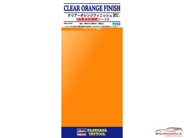HAS71823 Clear Orange Finish   TF23  Trytool selfadhesive decal Decal