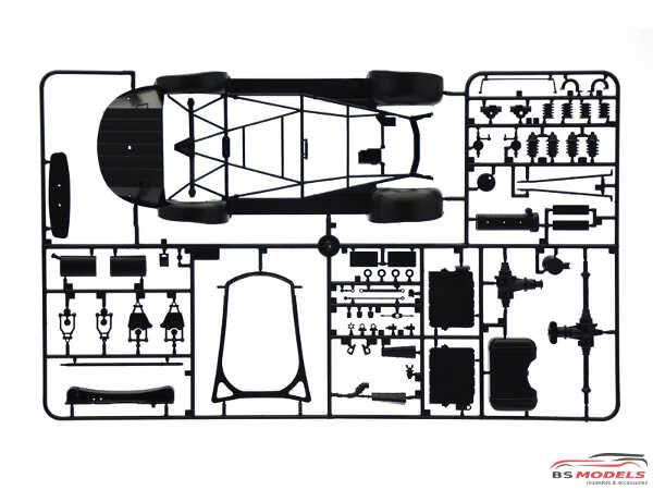 ITA3612 Mercedes Benz 300 SL Gullwing Plastic Kit