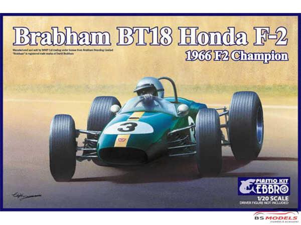 EBR20022 Brabham BT18 Honda F2  1966 F2 Champion Plastic Kit