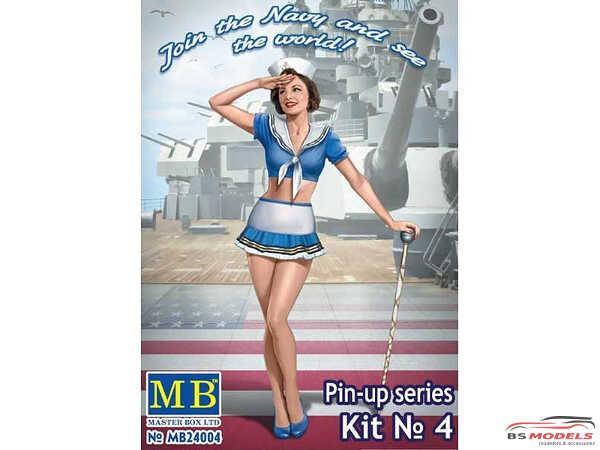 MB24004 Pin-up series #4  Suzie  Navy Plastic Kit