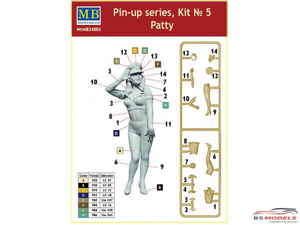 MB24005 Pin-up series #5  Patty Plastic Kit