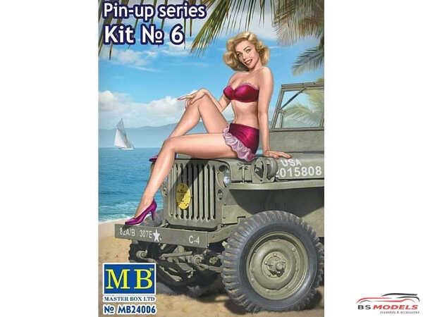 MB24006 Pin-up series #6  Samantha Plastic Kit