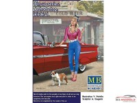 "MB24015 Pin-up series  ""a short stop kit #1  girl + dog Plastic Kit"
