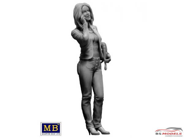 """MB24026 Kate with phone """"i'll be right there"""" figure Plastic Kit"""