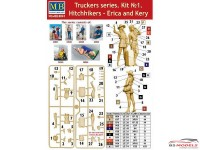 MB24041 Hitchhikers Erica & Kery  Trucker series Plastic Kit