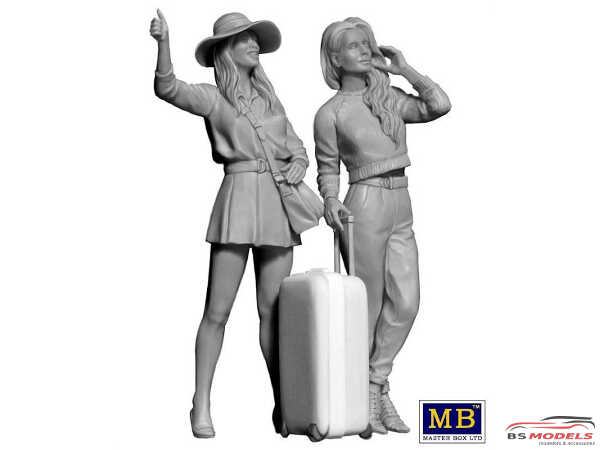MB24041 Hitchhikers Erica & Kery  Trucker series Plastic Kit