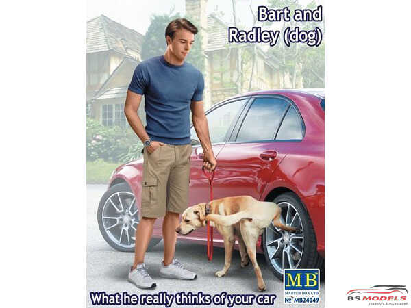 MB24049 Bart and Radley the dog what he really thinks of your car Plastic Kit