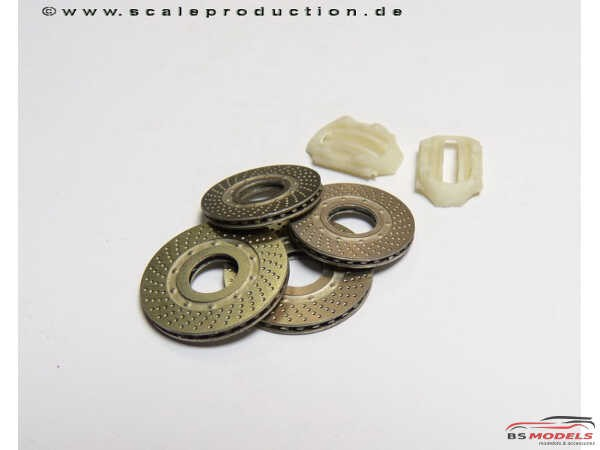 """SPE24010A Photoetch disc brake set A """"drilled"""" Etched metal Accessoires"""