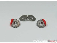 """SPE24010B Photoetch disc brake set  B """"slotted"""" Etched metal Accessoires"""