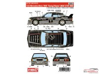 "STU27DC1013 Mercedes 190E  ""Konig Pilsener""  #6/7  DTM 1990 Waterslide decal Accessoires"
