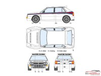 STU27DC1173 Lancia Delta HF integrale  EVO dress up Waterslide decal Accessoires