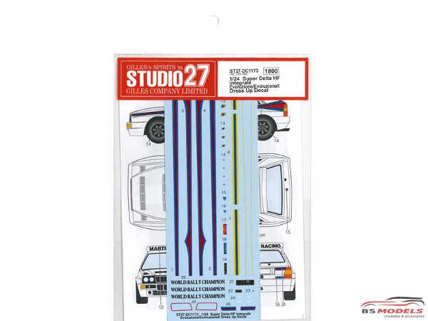 STU27DC1173 Lancia Delta HF integrale  EVO dress up Waterslide decal Accessoires