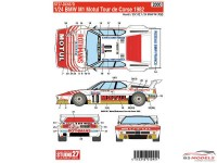 STU27DC637D BMW M1  Motul Tour de Corse  1982 Waterslide decal Decal