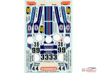 STU27DC680C Porsche 917K  Martini  early season Waterslide decal Accessoires
