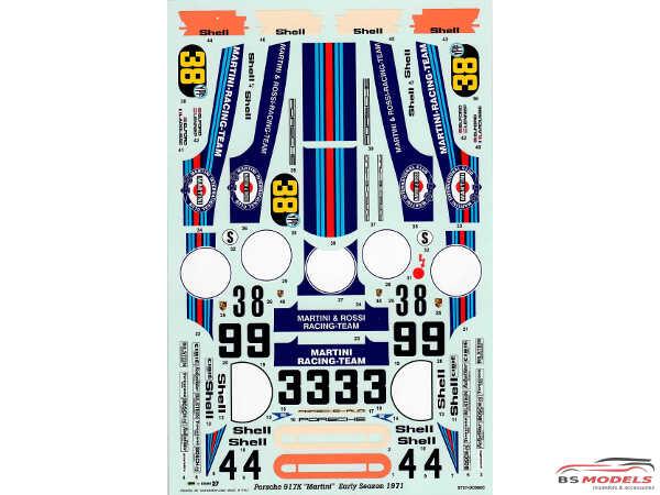 STU27DC680C Porsche 917K  Martini  early season Waterslide decal Accessoires